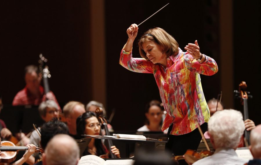 As JoAnn Falletta celebrates her 20th anniversary as BPO music director, the orchestra is a stronger force, both locally and nationally, than ever before. (Sharon Cantillon/Buffalo News)