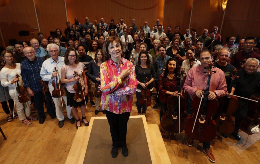 The Buffalo Philharmonic Orchestra and JoAnn Falletta. (Sharon Cantillon/Buffalo News)