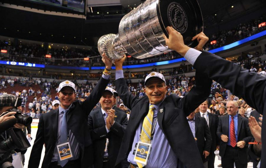 Jeremy Jacobs celebrates Bruins' Cup victory in 2011. (provided photo)