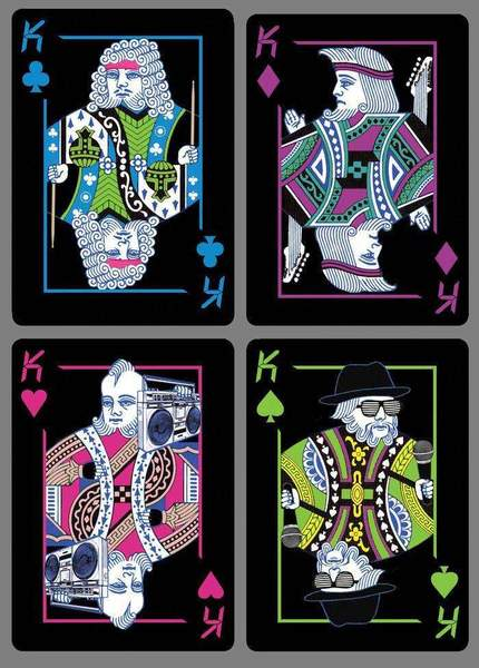 Radical 80s v2 Bicycle Playing Cards.