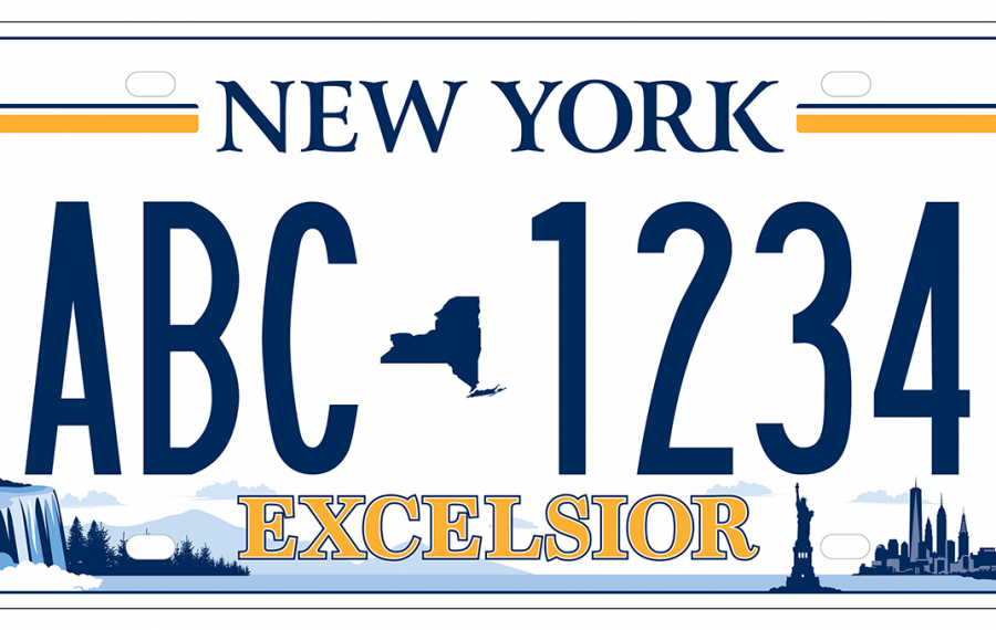 In a statewide survey, New York State residents chose Plate 5 for the state's new license plate. (Photo via New York State)