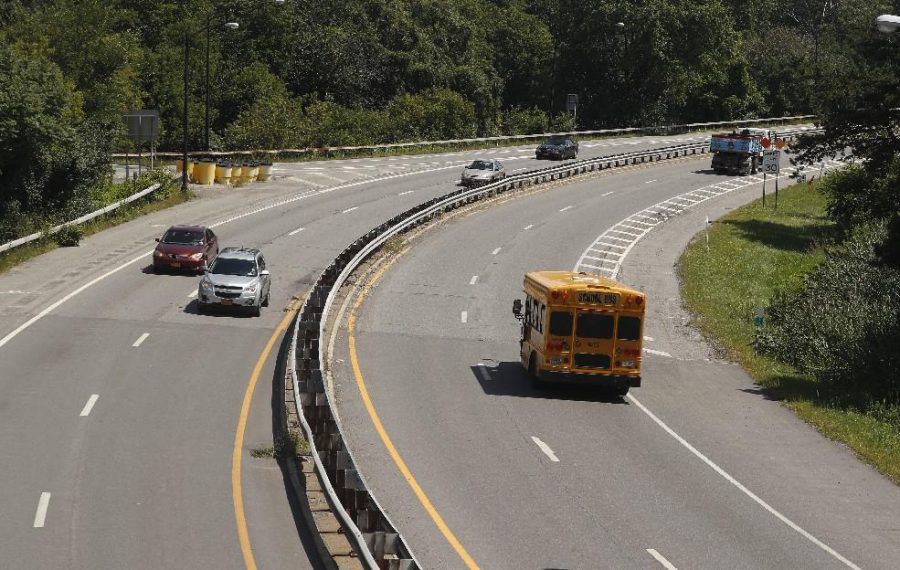 Vehicles travel along sections of Route 198. (John Hickey/News file photo)