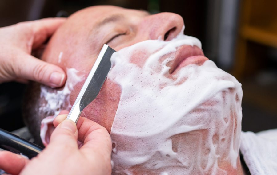 The hot lather shave at Cuts and Lather runs $30 and includes a face massage. (Matt Weinberg)