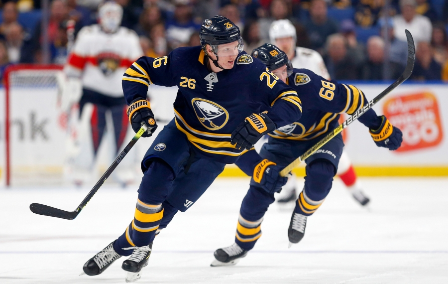 Sabres defenseman Rasmus Dahlin (26) skates in the second period Friday night against Florida (Mark     Mulville/Buffalo News)