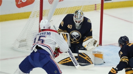 The Buffalo Sabres defeated the Montreal Canadiens 5-4 in overtime at KeyBank Center Wednesday, Oct. 9, 2019.
