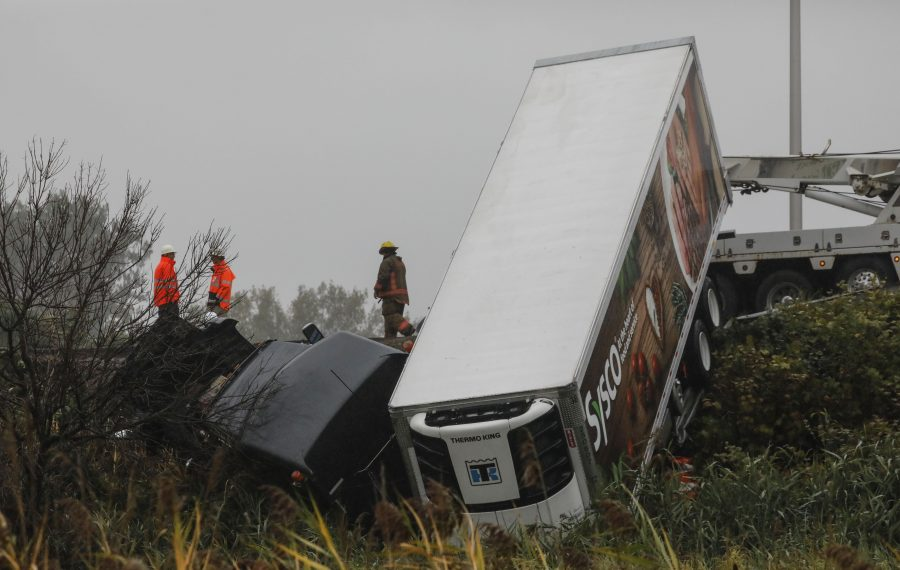 Driver issued ticket after tractor-trailer crash that snarled I-190 traffic