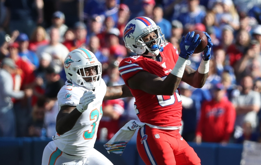 Bills receiver Duke Williams is a healthy inactive for the second straight game Sunday. (James P. McCoy/Buffalo News)