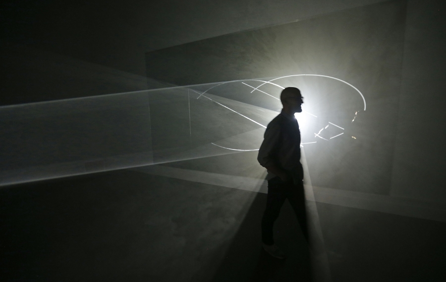The Albright-Knox Art Gallery will have expanded hours and an altered pay scale for the final weekend. Anthony McCall's sculpture/film exhibition has its final run, too. (Robert Kirkham/News file photo)