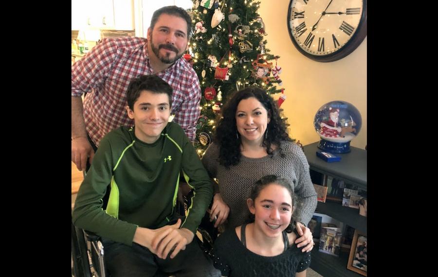 The Berkhoudt family: Michelle, Dave, Jordan, 17, and Abby, 13.