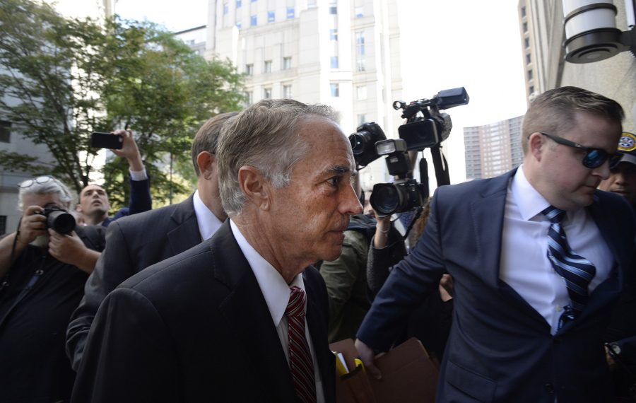 Chris Collins arrives at Federal District Court in Manhattan to plead guilty to insider trading on Oct. 1, 2019. (Jefferson Siegel/Special to The News)