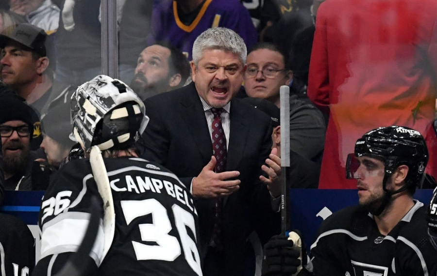 Todd McLellan is amid his first season as coach of the Los Angeles Kings. (Getty Images)