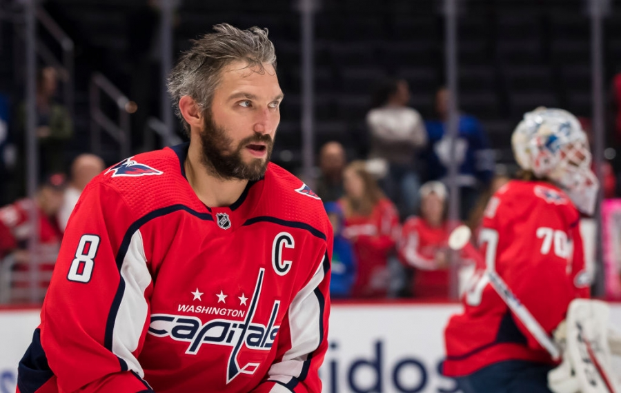 Washington Capitals winger Alex Ovechkin scored his 669th career goal Tuesday in Toronto. (Getty Images)