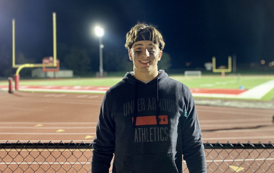 St. Francis senior David Bartholomew is being recruited to play college football following his return to the sport following a year off to focus on basketball. (Jonah Bronstein/Buffalo News)