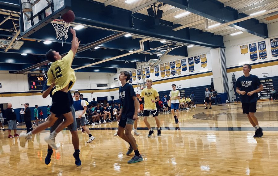 More than 25 college coaches scouted a group of 50-plus players at the 15th WNY BCANY showcase on Sunday, Oct. 6, 2019 at Sweet Home High School. (Jonah Bronstein/Staff)