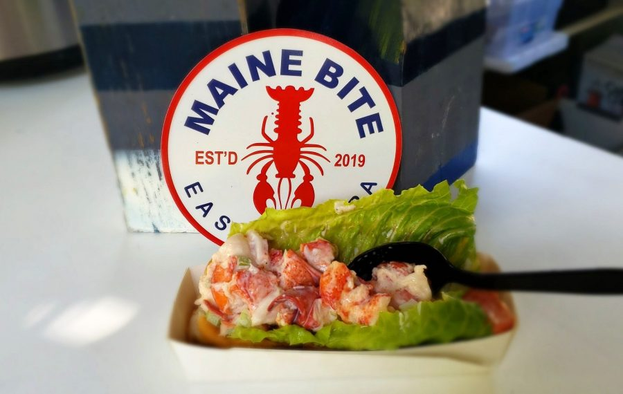 The classic lobster roll from the Maine Bite, a new food trailer from Sara Finnerty. (Photo courtesy of the Maine Bite)