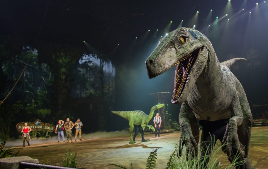 """There are 21 dinosaurs roaming through KeyBank Center as part of """"Jurassic World Live Tour."""" (Courtesy Feld Entertainment)"""