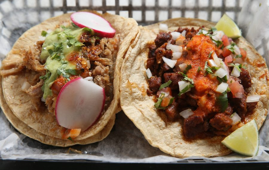 La Divina's popular tacos will find another home at EXPO. Carnitas, left, and al pastor are among the favorites. (Sharon Cantillon/News file photo)