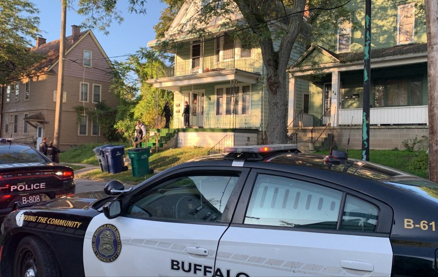 Buffalo police and firefighters were called to this home just before 8 a.m. Wednesday. (Maki Becker/Buffalo News)