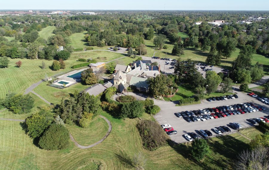 Trees dot the former Westwood Country Club in Amherst in this aerial photo. The town wants to plant one million trees over the next five years at locations that could include the former golf course. (Derek Gee/News file photo)