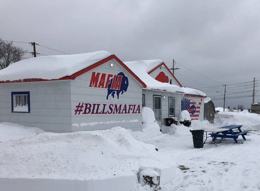 This Bills-themed house in Orchard Park was created with New Era Field in mind. (Contributed photo)