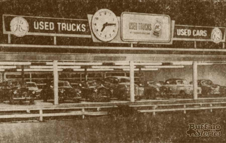 Glen Campbell's used car showroom in 1954 stood about where Tim Hortons is today on Main Street in Williamsville near the I-290.