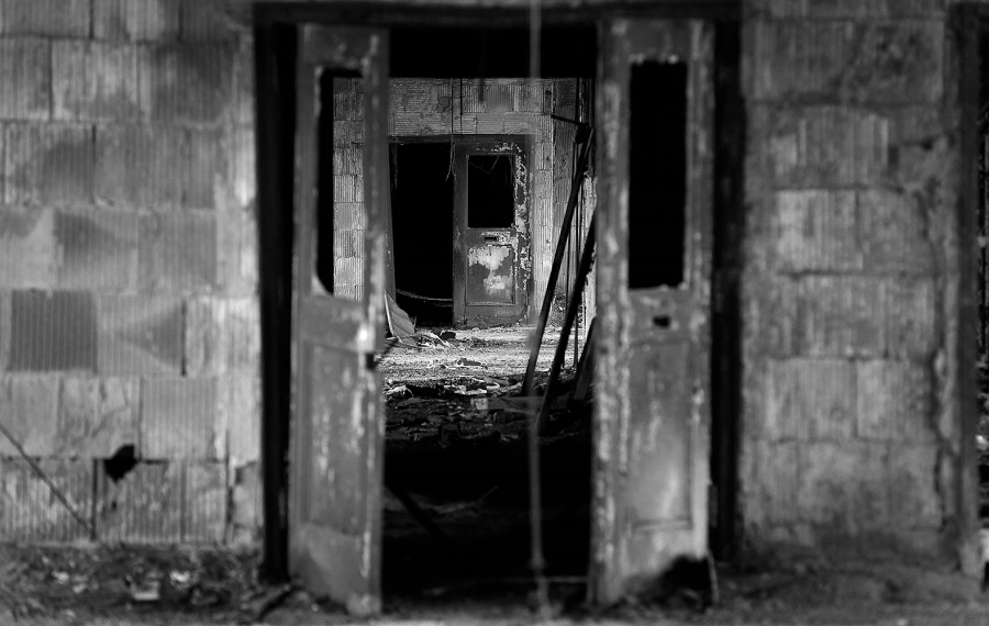 Images like this found  throughout the Buffalo Central Terminal,make it easy to believe it is the site of unexplained occurrences. (Mark Mulville/Buffalo News)