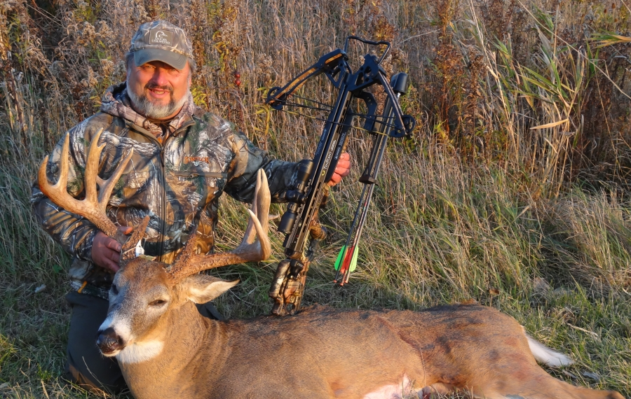 Capt. Joe Fonzi of Gasport is proud of this big crossbow buck from Niagara County he took a few years ago. Crossbow season opens Saturday in the Southern Zone. (Photo courtesy of Capt. Joe Fonzi)