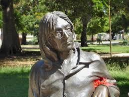 Statue of John Lennon in Parque John Lennon in Havana, Cuba.