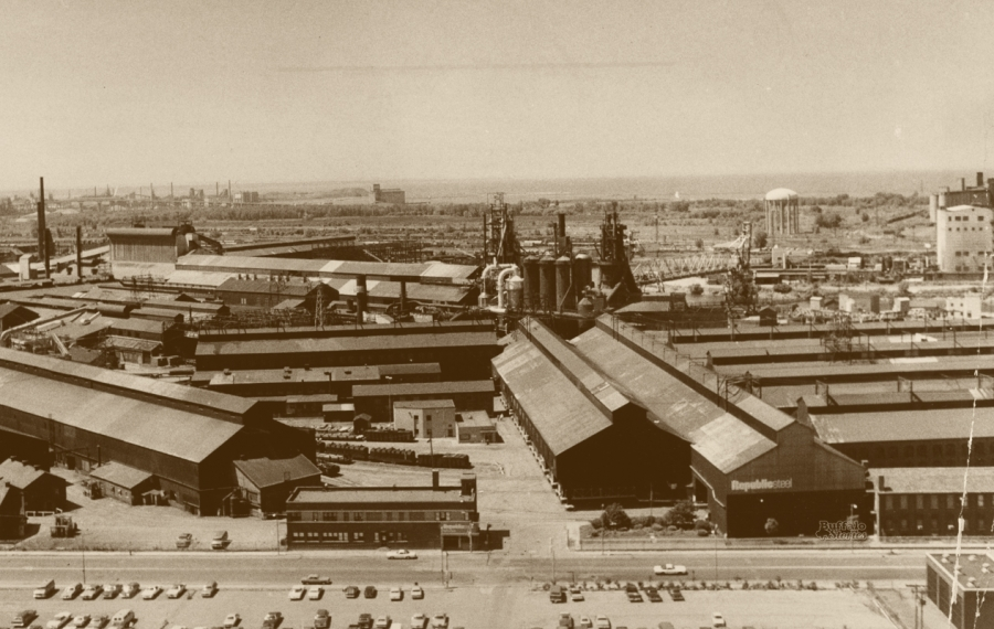 Republic Steel on South Park Avenue was Buffalo's most highly valued industrial site in 1965.