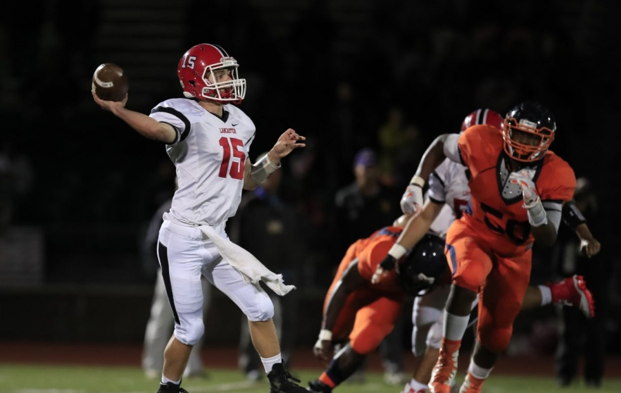 Jason Mansell accounted for all four Lancaster touchdowns during the Legends' Class AA semifinal win at Jamestown. (Harry Scull Jr./Buffalo News file photo)