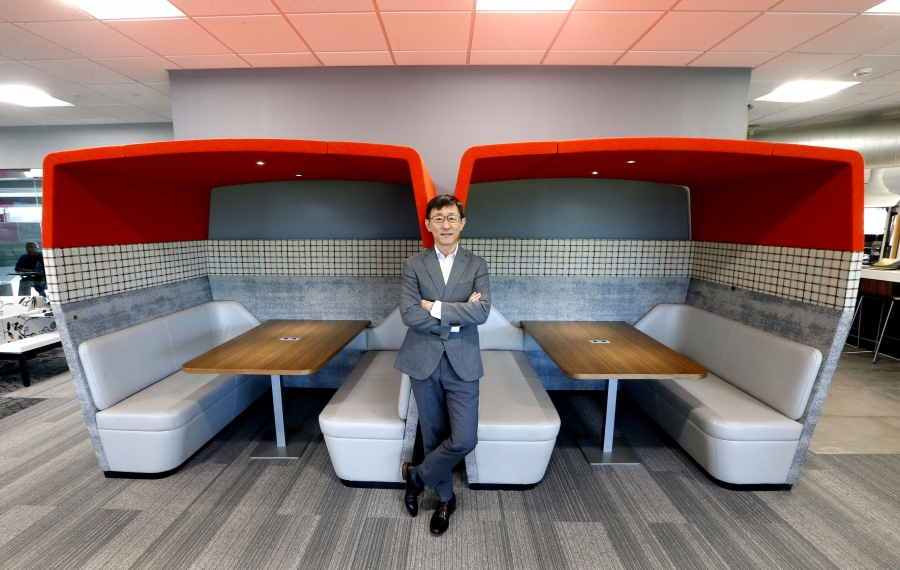 Yexi Liu joined Rich Products as its chief information officer in July. (Robert Kirkham/Buffalo News)