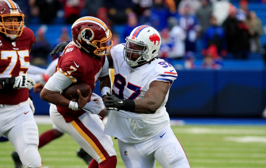 Bills defensive tackle Jordan Phillips is having a breakout season, with seven tackles. (Harry Scull Jr./Buffalo News)
