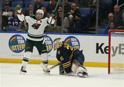 The crisis deepened for the Buffalo Sabres with a 4-1 loss to the Minnesota Wild on Tuesday, Nov. 19, 2019. An announced crowd of 15,522 in KeyBank Center saw the Sabres fall to 1-6-2 in their last nine games with the embarrassing defeat. Buffalo is 10-8-3 overall.