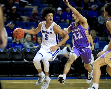 The University at Buffalo men's basketball team beat Nazareth College 109-72, on Monday, Nov. 11, 2019, at UB's Alumni Arena.