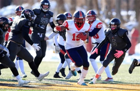 Southwestern defeated Letchworth-Warsaw 54-8 in the New York State Class C Far West Regional High School football game at the State University College at Brockport on Saturday, Nov. 16, 2019.