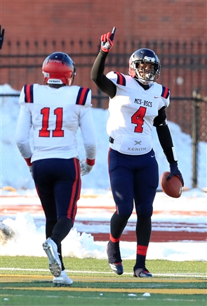 Western New York Maritime Charter/Health Sciences defeated Livonia 40 to 29 in the New York State Class B Far West Regional High School football game at the State University College at Brockport on Saturday, Nov. 16, 2019.