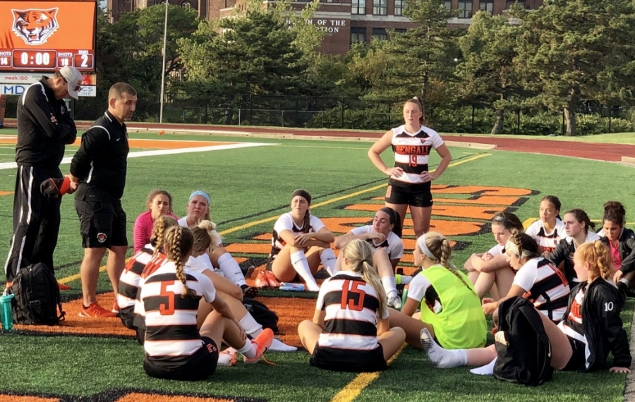 Buffalo State is doing the right thing by looking into complaints against women's soccer coach Nicholas DeMarsh, second from left. (Ben Tsujimoto/Buffalo News)