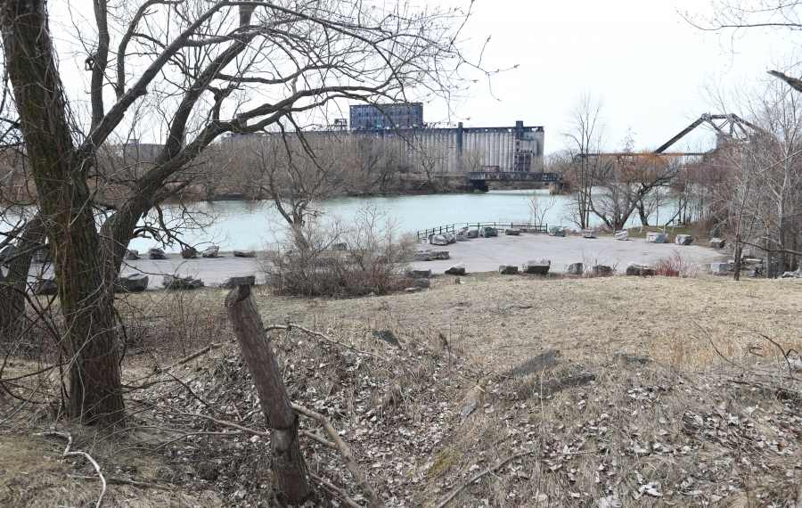 Areas of the Riverline project include this view from the area near Red Jacket Park. (Sharon Cantillon/Buffalo News)