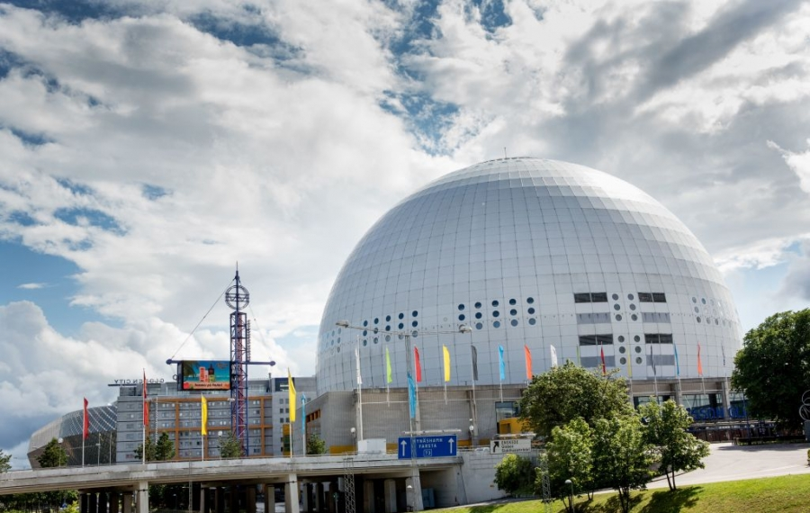 Ericsson Globe in Stockholm will be the site of the Sabres' two games against Tampa Bay. (Getty Images)