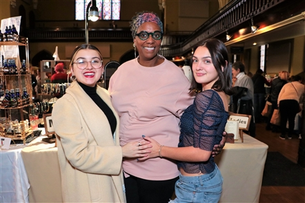 Buffalo Women's Gifts, a holiday market - organized now by West Side Stitchery - featuring the works of local female artisans in a venue associated with female triumph, Ani DiFranco's Babeville, on Saturday, Nov. 30, 2019. See who perused the goods.