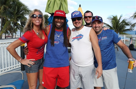 Buffalo Bills fans descended on Fort Lauderdale on Saturday, Nov. 16, 2019, in advance of Sunday's Bills-Dolphins game.
