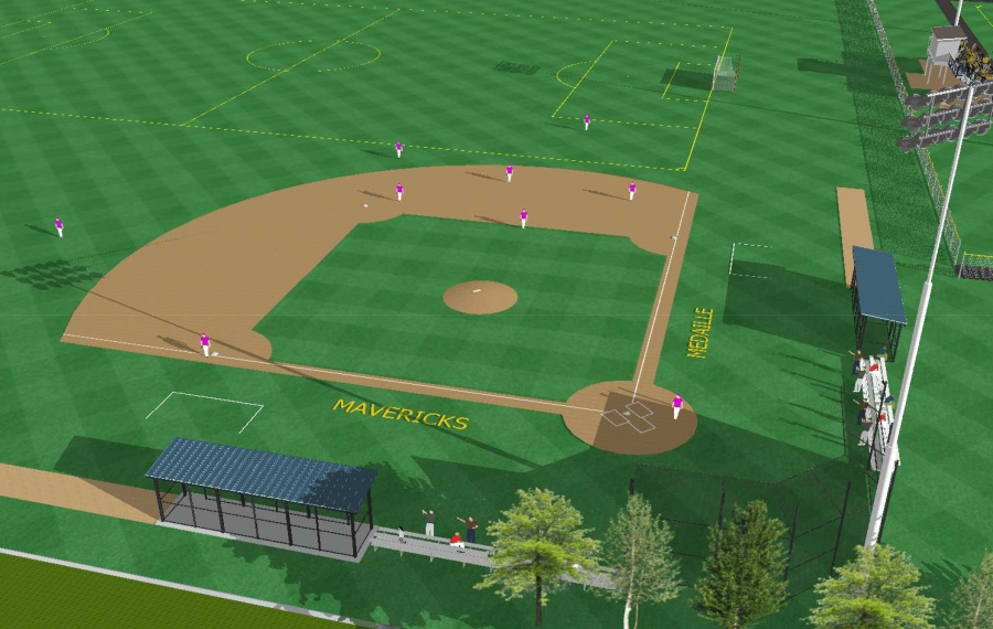 A rendering of the proposed new baseball diamond at the Medaille Sports Complex, part of a $7 million expansion. (Image courtesy of Medaille College)