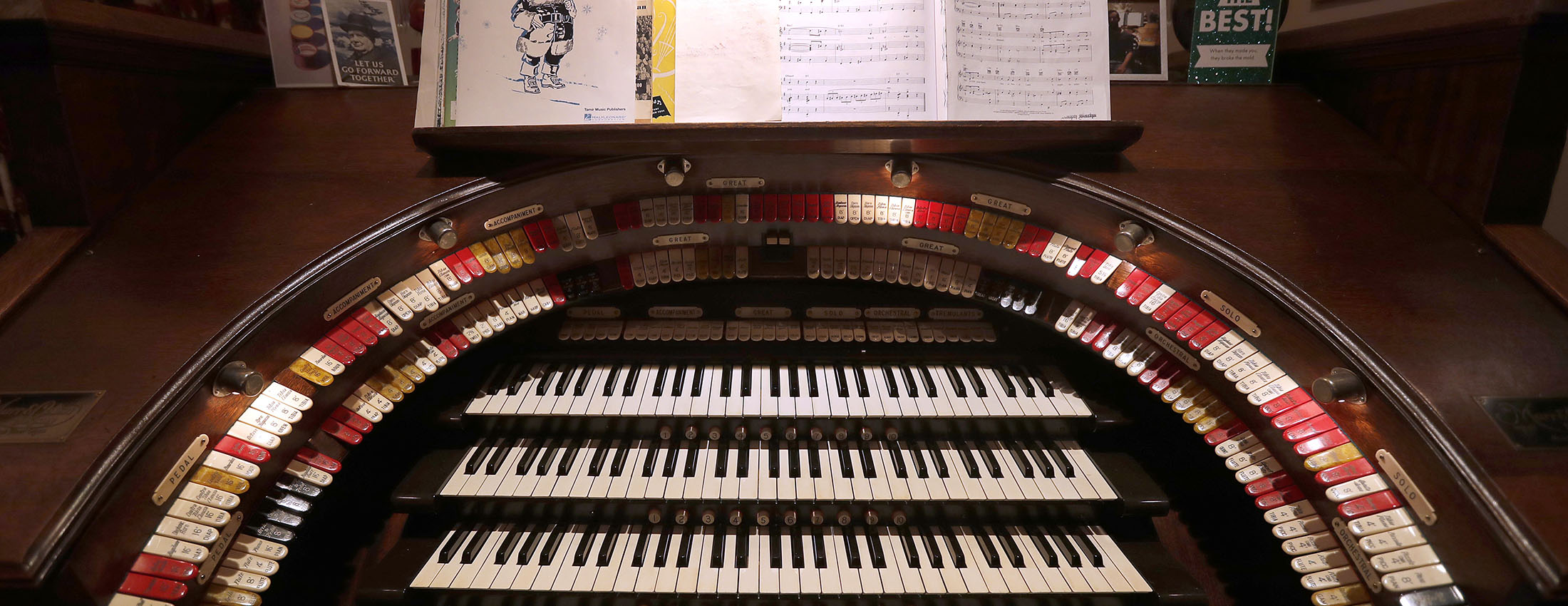 Ralph Bacha sold his full size pipe organ and the house he built for it to a retired University at Buffalo piano technician. (Mark Mulville/Buffalo News)