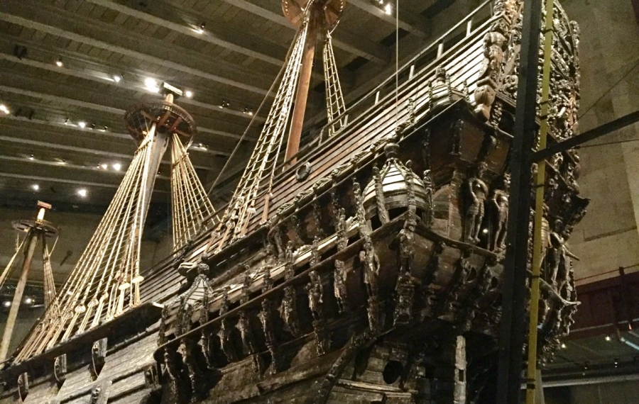 The warship Vasa was salvaged in 1961 after sitting at the bottom of Stockholm harbor for 333 years. It is the centerpiece of the Vasa Museum. (Mike Harrington/Buffalo News)