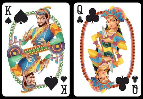 Bharata playing cards by Sunish Chabba from the Guru Playing Card Co.