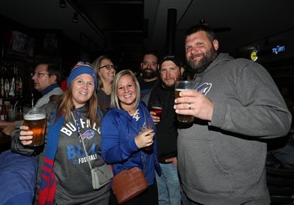 Buffalo Bills fans were partying in Cleveland Saturday, Nov. 9, 2019, the day before the (6-2) Bills were to meet the (2-6) Browns at FirstEnergy Stadium.