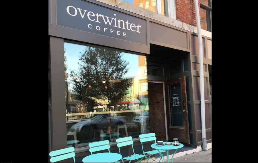 The outside of Overwinter on Genesee Street. The burgeoning coffee business will open a second location soon. (Photo courtesy of Overwinter)