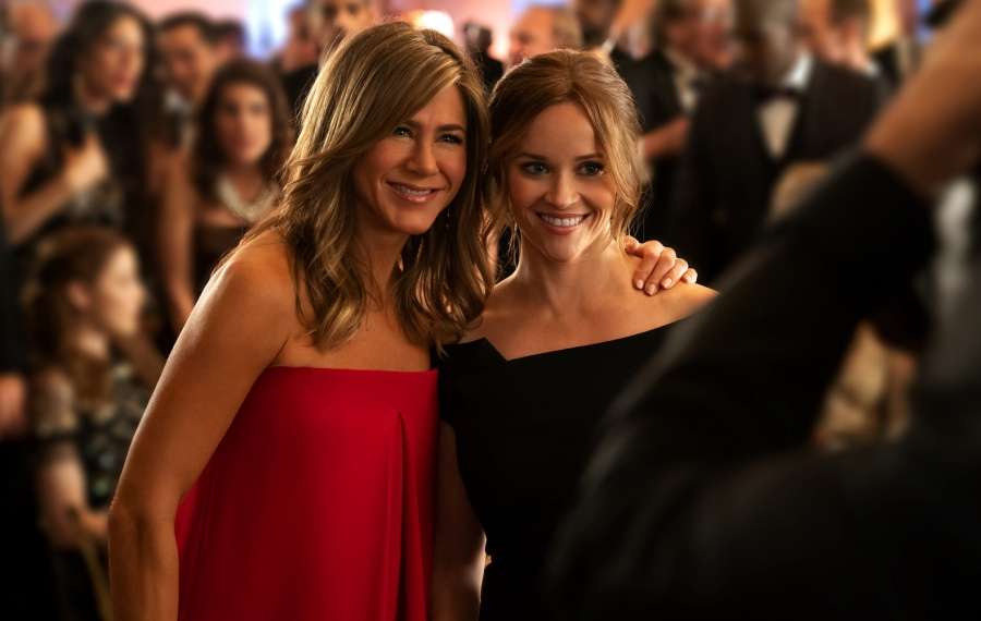"Jennifer Aniston and Reese Witherspoon star in ""The Morning Show."" (Apple)"