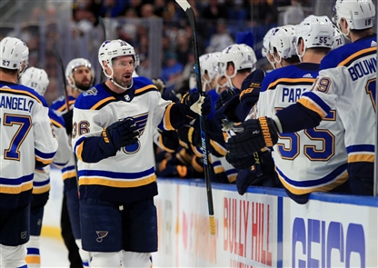 The Buffalo Sabres beat defending Stanley Cup champion St. Louis Blues, 5-2, on Tuesday, Dec. 10, 2019, at KeyBank Center.
