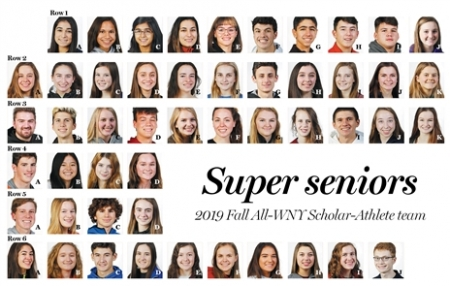 The 2019 All-Western New York Scholar Athlete fall sports team consists of 135 winners and 929 honorable mentions. To be nominated for the team, students must have carried a 90-plus average for the previous six semesters and been a starter or significant player in their sport. The scholar athlete team is open to seniors from Western New York's 100-plus public and private schools. They are to be featured in an upcoming News poster page. More information is available at section6.e1b.org.